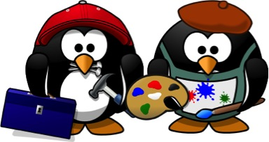 Craftsman and Painter penguins