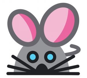 Small stylized mouse